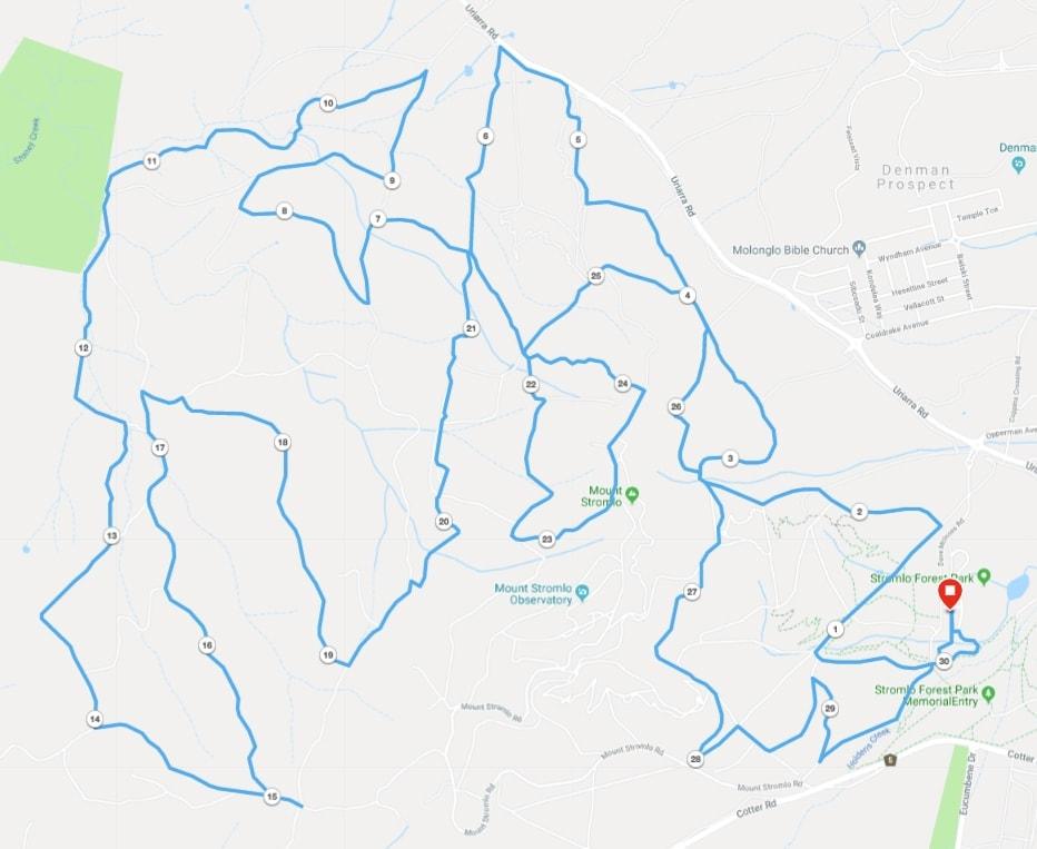 30km Run Stromlo Forest Park